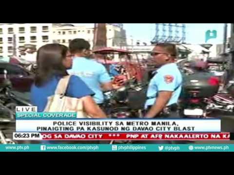 Police visibility sa Metro Manila, pinaigting pa kasunod ng Davao City Blast