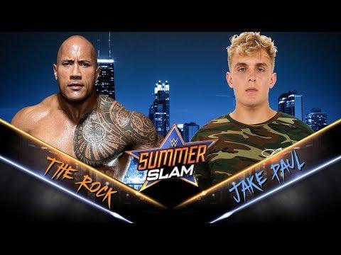 Jake Paul VS The Rock - WWE Fight