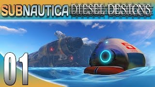 Subnautica Gameplay :EP01:  Into the Deep Blue Sea! (1080p PC)