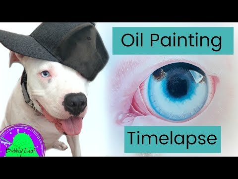 Painting my dogs eye || Oil Painting Time-lapse