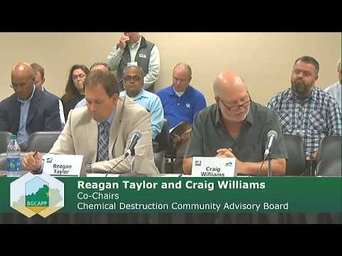 Sept. 13 Kentucky Chemical Demilitarization Citizens' Advisory Commission and CDCAB Meeting (2017)
