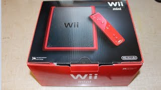 Nintendo Wii Mini Unboxing and Startup