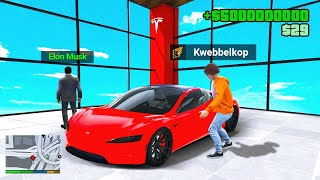 Stealing EVERY TESLA From The Dealership In GTA 5 RP!