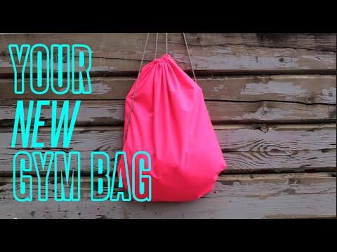 734116a9b3c8 EASY DIY GYM BAG - YouTube