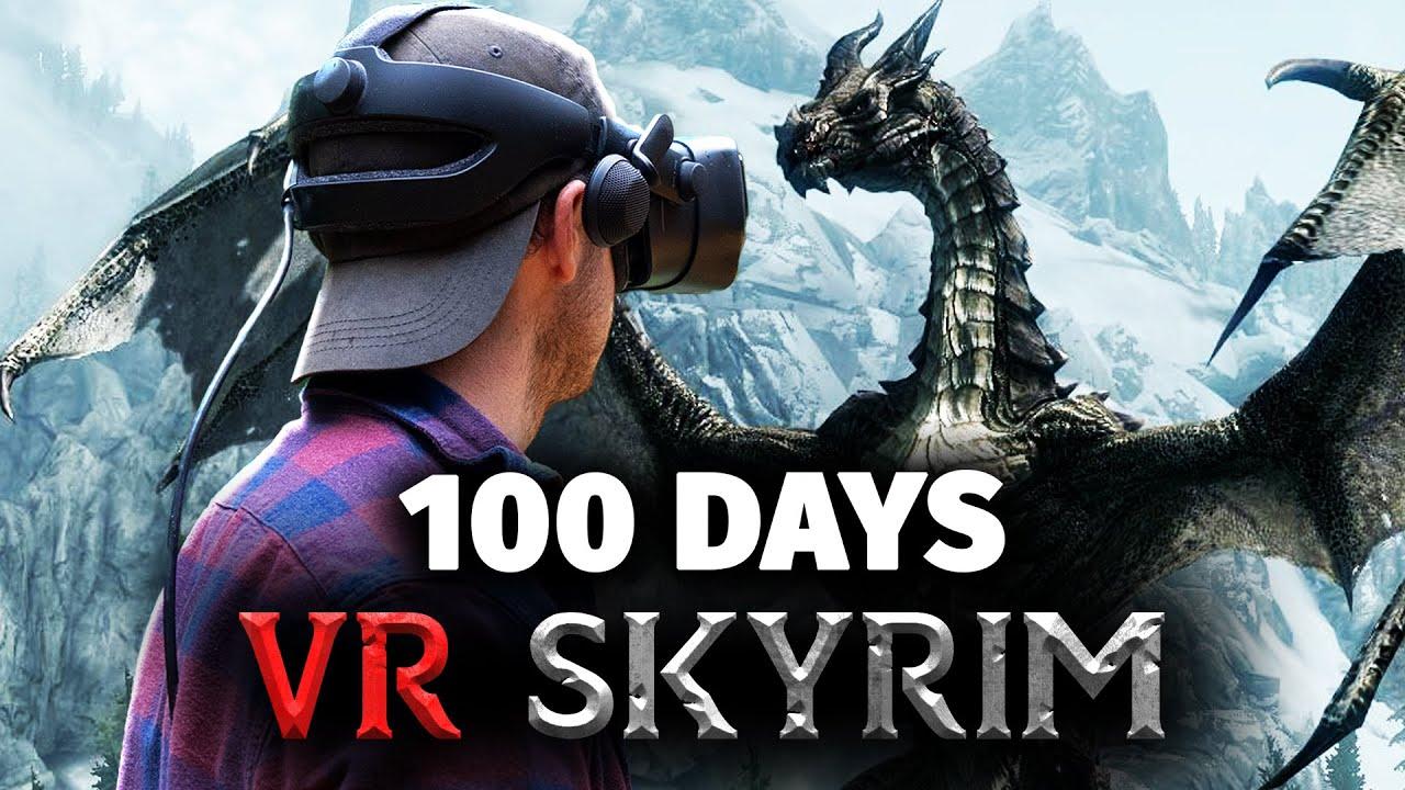 I Spent 100 Days VR Skyrim... Here's What Happened