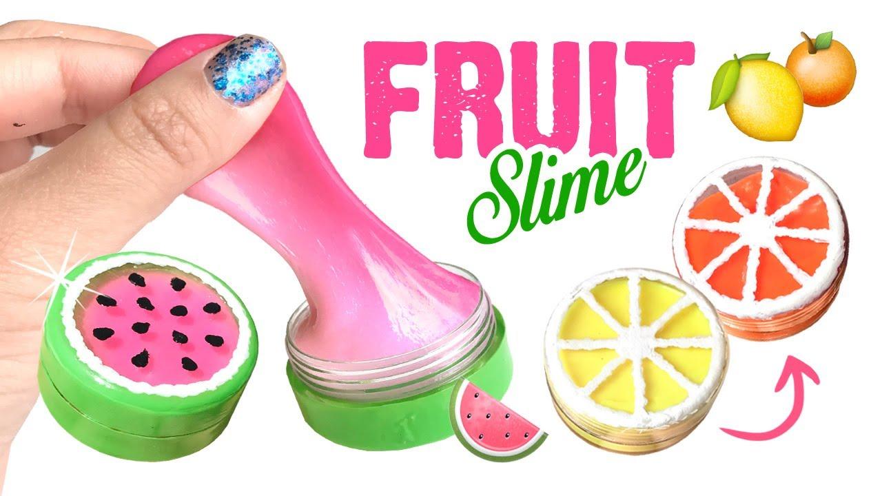 diy color changing fruit slime easy summer diy u0026 slime hacks