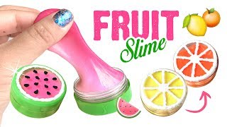 DIY COLOR-CHANGING Fruit Slime!! Easy Summer DIY & Slime Hacks!