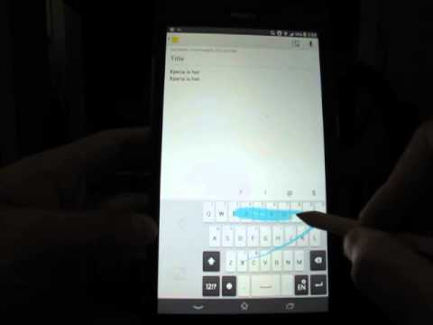 Xperia Z Ultra chinese mini keyboard bug, international keyboard is fine.