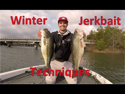 How to Fish Suspending Jerkbaits for Winter Bass - Lake Dardanelle
