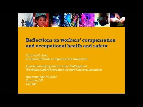 Reflections on workers' compensation and occupational health and safety, November 2012