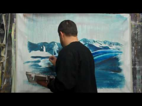 Winter Landscape Painting by Chad Rice – Missoula MT