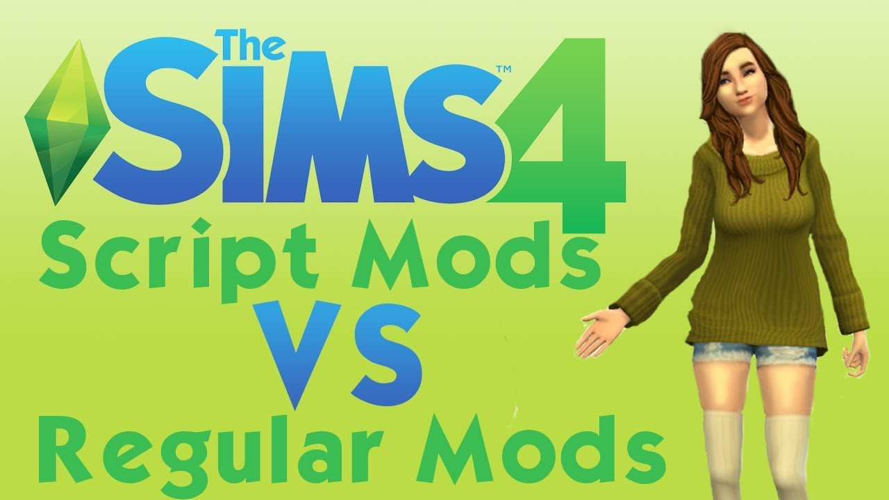 the sims 4 how to install script mods vs regular mods youtube. Black Bedroom Furniture Sets. Home Design Ideas