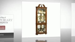 Massive Selection Of Premier Brands Corner Cabinet At Curiocabinetspot.com