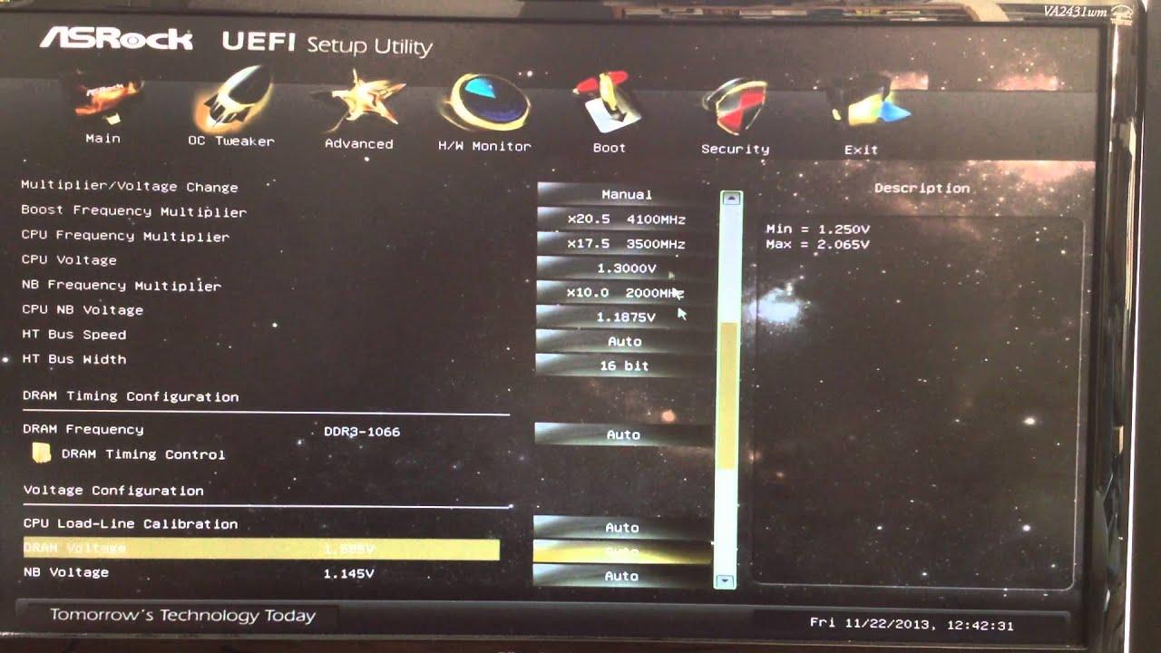 ASRock 970 Extreme3 Motherboard UEFI Setup Utility - YouTube