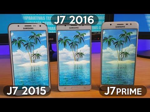Galaxy J7 2015 vs Galaxy J7 2016 vs Galaxy J7 Prime - Comparativa