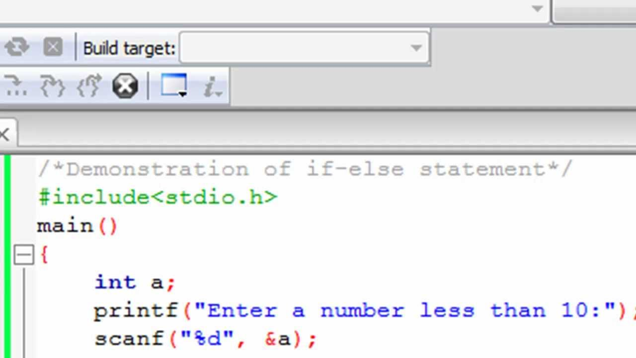 Programming Tutorial C Programming Tutorial 17 The If Else Statement