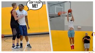 They Tried To FIGHT! LA Fitness Hoopers GOT Too PHYSICAL & We Went OFF! (Mic'd up 5v5)