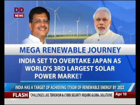 India registers record Renewable Energy Capacity Addition in 2016-2017