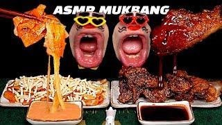 tteokbokki #koreanfood #chicken #spicy #cheese Today's menu is ....! Spicy seasoned chicken and Korean Cheese tteokbokki! 'Red Mouth' Eats Spicy ...