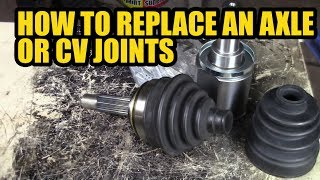 How to replace a axle or inner/outer CV joint on a Caddy mk 2  / Fellica .