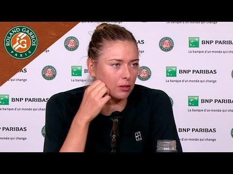 Maria Sharapova - Press Conference after Round 2 I Roland-Garros 2018