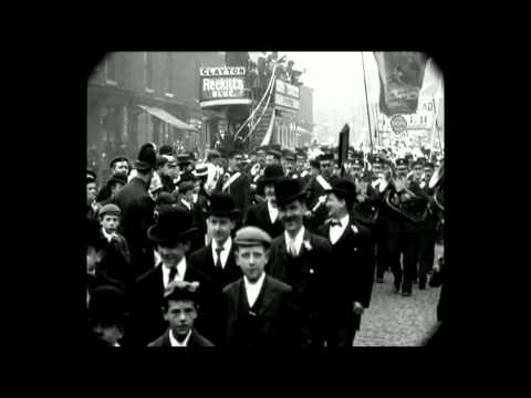 June 1901 - Manchester Band of Hope temperance parade (with sound)
