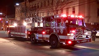 Passaic NJ Fire Department Ladder 2 and Engine 2 Responding on Market St to Monroe St Feb 22nd 2019