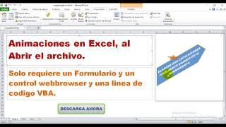Animaciones con una URL en Excel - Plantilla 2018