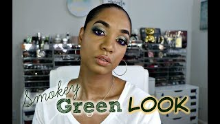 Get Ready With Me 🍃 MAKEUP TUTORIAL 🍃 Smokey Green LOOK