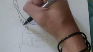 How to draw hidan