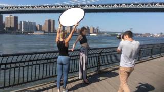 Fashion shooting in New York City with Carolina Verbova