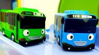 Видео для детей: Автобусы ТАЙО. Дни недели - среда