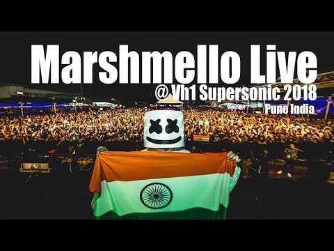Marshmello Live at Vh1 Supersonic 2018 Day 2 Pune India(Exclusive)