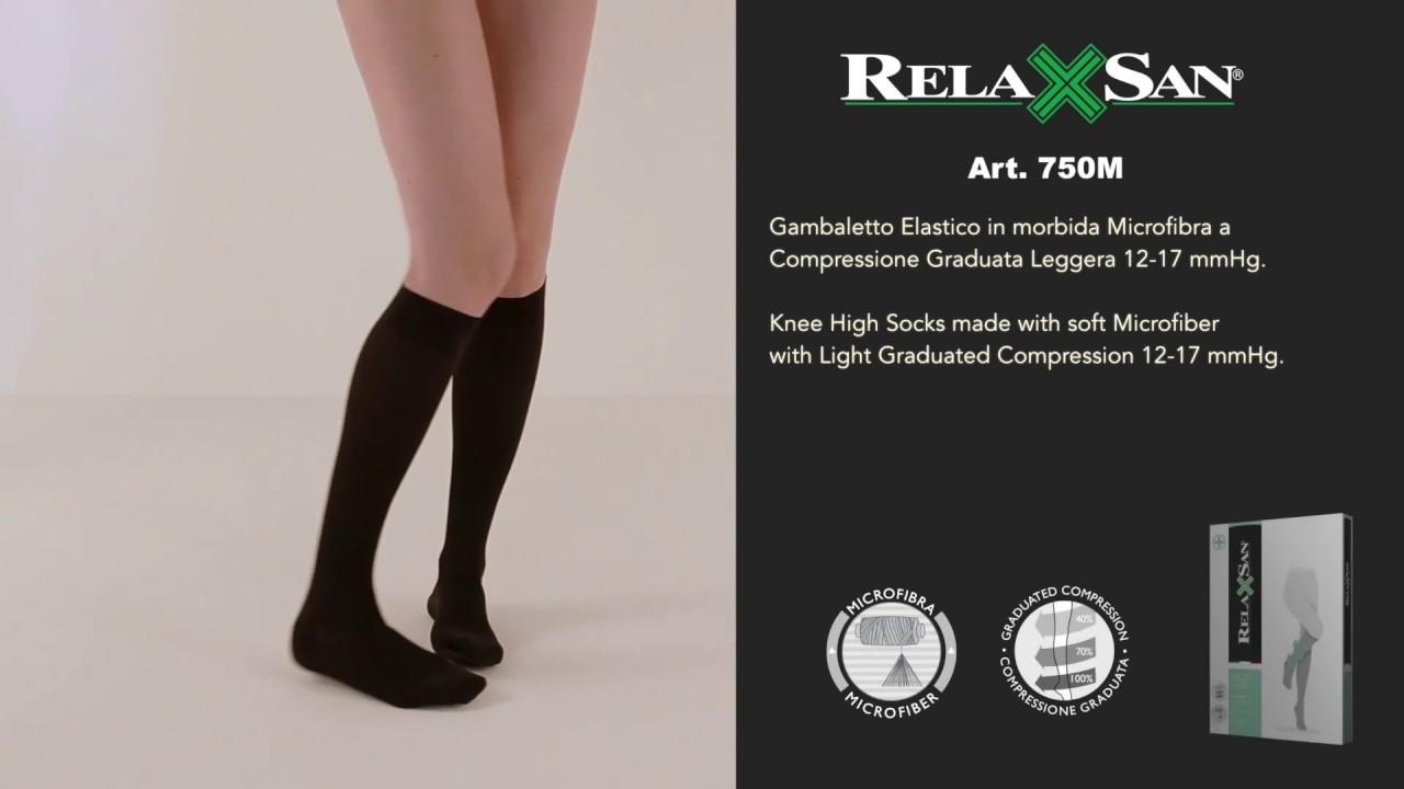 Relaxsan Microfibra 750M gambaletti 70 Den compressione graduata 12-17 mmHg