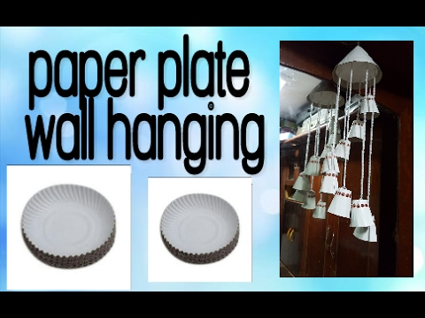 How to make paper plate\u0027s wall hanging  sc 1 st  YouTube & How to make paper plate\u0027s wall hanging - YouTube