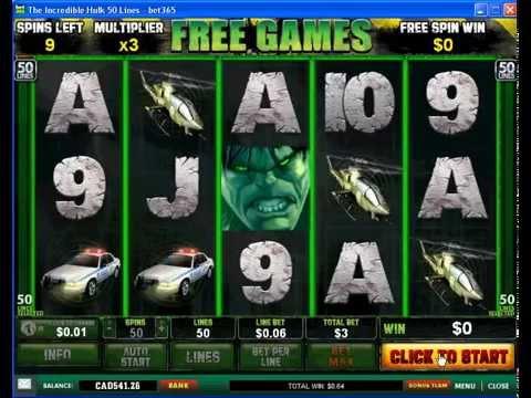 Incredible Hulk Slot Wins $112 Video Www.online-gambling-canada.com