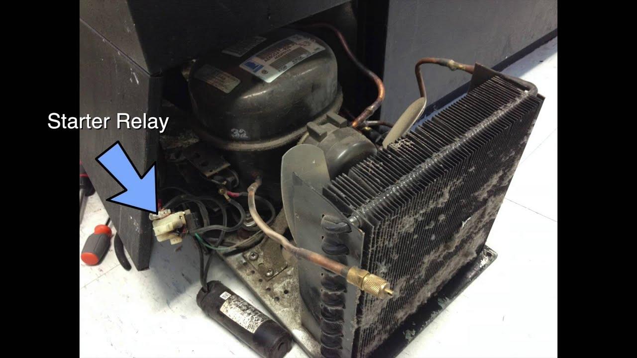 refrigerator troubleshooting repair not cooling compressor starter relay [ 1280 x 720 Pixel ]