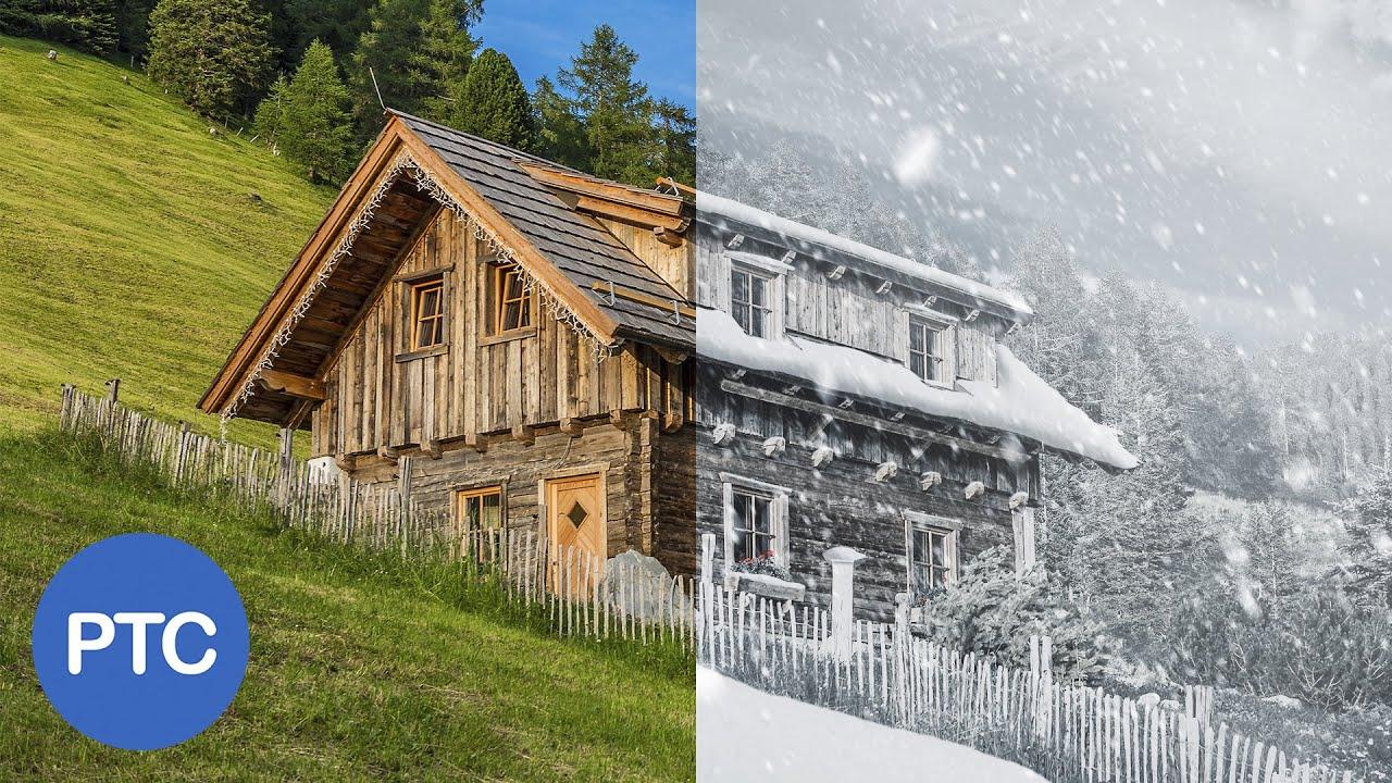 Download Summer To Winter - Snow Photoshop Tutorial