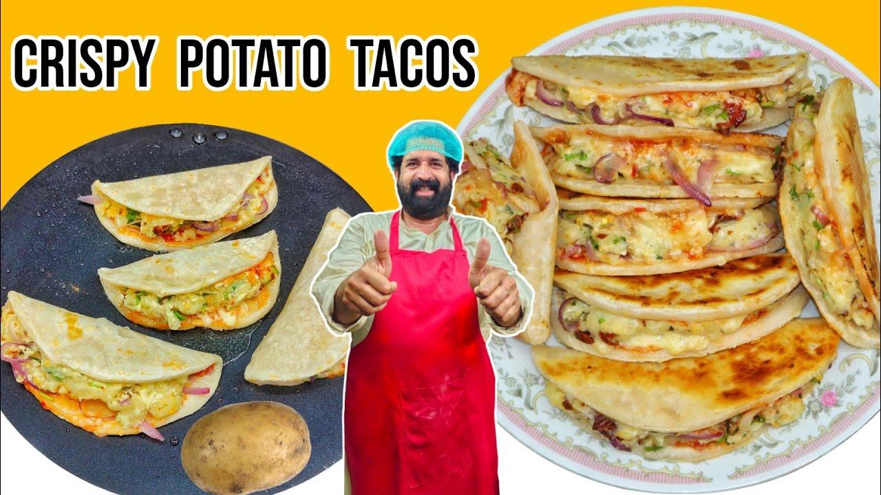 Crispy Potato tacos | Tacos recipe | Taco Mexicana - Homemade Dominos Style in Tawa | Potato Tacos