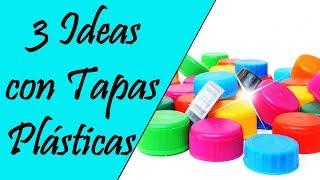 3 Ideas con Tapas Plásticas o Tapones #RecicladoChallege|| Manualidades Recicladas ||  Ecobrisa