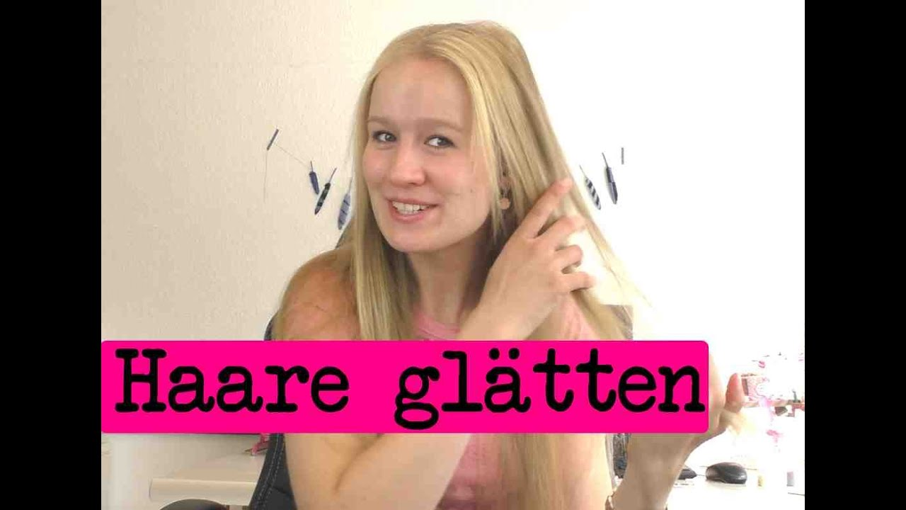 Haare Glätten Mit Glätteisen Tipps Möglichst Schonend Die Haare