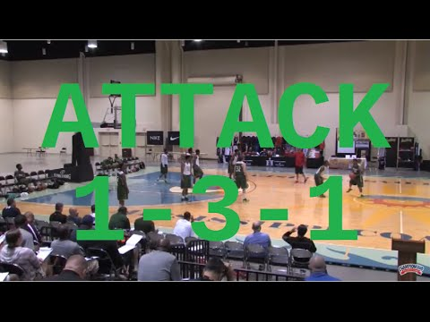 Use This Set Play To Attack A 1-3-1 Zone! - Basketball 2016 #58