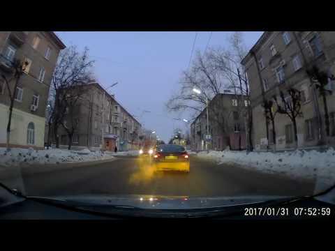 Рязань. 31 января 2017г. Проезд на запрещающий сигнал светофора.