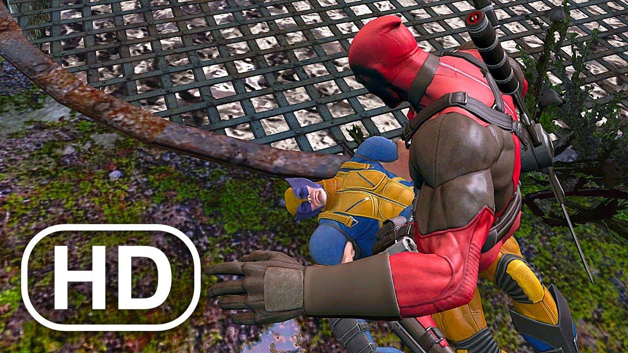 Deadpool Slaps Wolverine 100 Times Scene 4K ULTRA HD