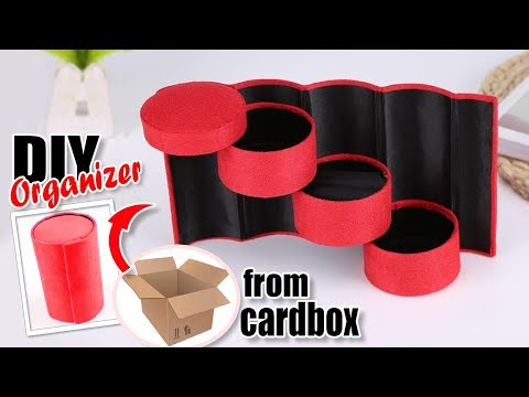 FANCY DIY PORTABLE ORGANIZER // Three Tier Storage Box Multifunctional From Cardbox