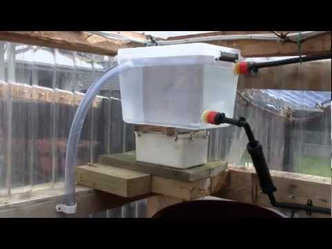 Experimental Drip Fed Greenhouse Watering System Youtube
