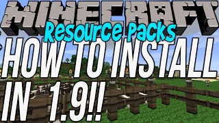 how to download install resource packs in minecraft 1 9 get texture packs in 1 9