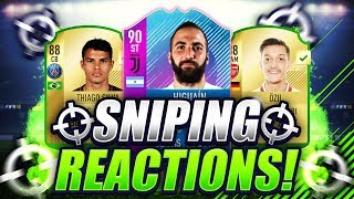 FIFA 18 | SNIPING WALKOUT PLAYERS (90 RATED CARD!!!) 😱 SNIPING REACTIONS EP8 🔥