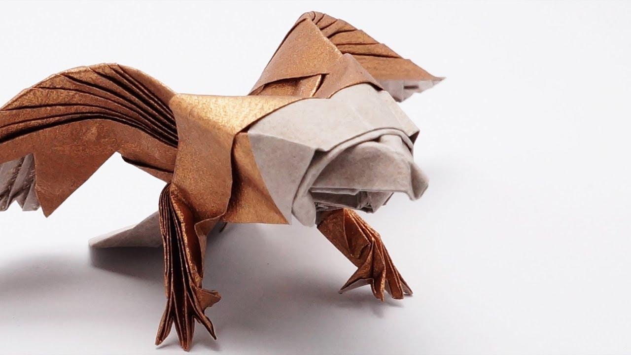 origami eagle jo nakashima timelapse youtube