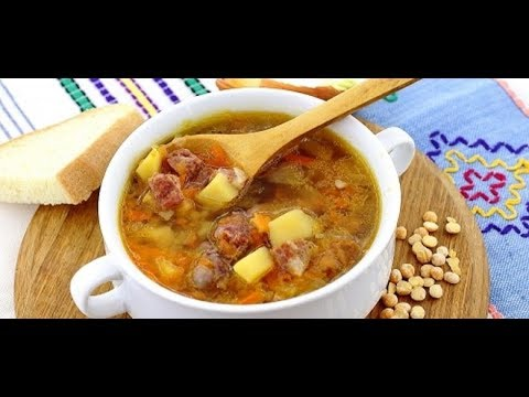 Как сварить суп из гороха с копченостями